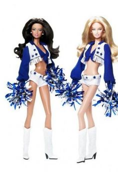 Barbie through the years - Dallas Cowboys Cheerleader Barbie designed by Robert Best. Barbie I, Barbie World, 90s Fashion, Fashion Dolls, Barbie Celebrity, Cheer Outfits, Ken Doll, Barbie Collector, Barbie Friends