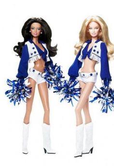 Barbie through the years - Dallas Cowboys Cheerleader Barbie designed by Robert Best.
