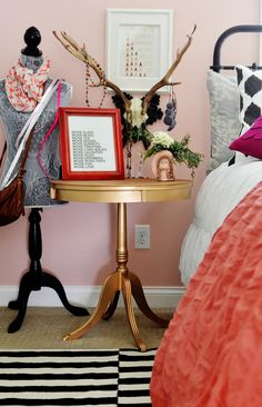 Styled Gold Side Table