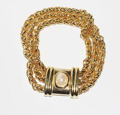 Joan Rivers Chain Bracelet Gold Tone  S1532 by SCLadyDiJewelry