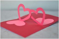 pop-up valentine's day card kissing couple (original)