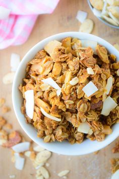 Crunchy Almond Coconut Granola   @nutritiouskitch