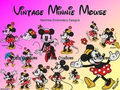 Vintage Disney Minnie Mouse Embroidery Machine by 4CraftyCreations, $2.99