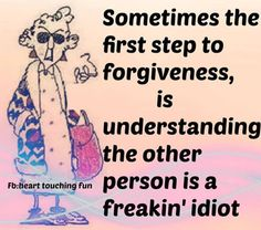 First steps to forgiveness
