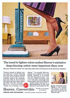 1961 Advertisement for Hoover Vacuums