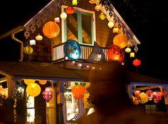 Star House. Illumination Night in Oak Bluffs, Martha's Vineyard.