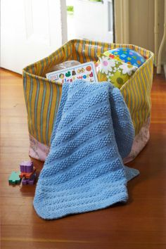 Seed Stitch Baby Blanket. I think this will be my first knitting project--a blanket for Amelia!