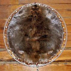 Hooped Beaver Pelt-With Nat. Wood Beads or choice! Prime #1 Winter Grade Fur - http://crafts.goshoppins.com/home-arts-crafts/hooped-beaver-pelt-with-nat-wood-beads-or-choice-prime-1-winter-grade-fur/