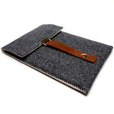 iPad Mini case - gray herringbone
