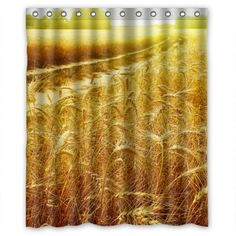 GreenDecor Golden Corn Field Soil Country Road Waterproof Shower Curtain Set with Hooks Bathroom Accessories Size inches Shower Curtain Sets, French Country Decorating, Country Bathrooms, Bathroom Accessories, Rustic Decor, Country Roads, Hooks, Curtains, Pictures