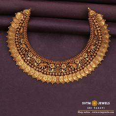 Gold jewellery design necklaces - Shop Mind Blowing South Indian Style Imitation Jewellery Designs Online Here – Gold jewellery design necklaces Jewelry Design Earrings, Gold Jewelry, Jewelry Hooks, Septum Jewelry, Key Jewelry, Jewelry Candles, Monogram Jewelry, Hanging Jewelry, Craft Jewelry