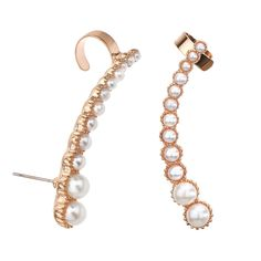 Mood Set of two graduated pearl ear cuffs