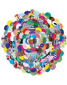 Circle collage by Stina Maria Aalykke