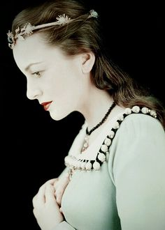 """Olivia de Havilland as Juliet in """"Romeo And Juliet"""", 1951"""