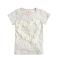 Girls' tulle heart tee | J.Crew Collectible Tees