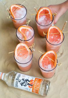 The Big Freeze cocktail - guava nextar, grapefruit juice, lime, and rum! This is the perfect summer drink recipe!