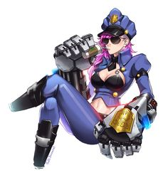 Vi by Pmolita.deviantart.com on @DeviantArt - More at https://pinterest.com/supergirlsart/ League of Legends #leagueoflegends #lol #officer #vi #fanart