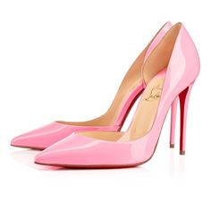 Get the must-have pumps of this season! These Christian Louboutin Pink Classic Iriza Dolly Patent Leather Dorsay Point-toe Pumps Size EU 36 (Approx. US Regular (M, B) are a top 10 member favorite on Tradesy. High Heel Pumps, Pointed Toe Pumps, Pumps Heels, Pretty Shoes, Beautiful Shoes, Beautiful Pictures, Louboutin Pumps, Louboutin Online, Designer Shoes