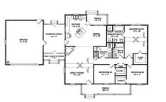Cape Cod Country House Plan 96542 Level One