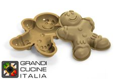 """Tortiera  in silicone alimentare """"Mr. Ginger"""" 255x195x42h mm - SFT325"""