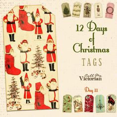 free christmas tags day 11 http://callmevictorian.com/1073/12-days-of-christmas-tags-day-11/