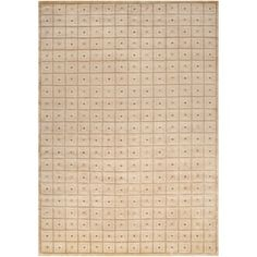 Hand-knotted Beige Soldeu Collection Geometric Squares Wool Rug (5' x 8') | Overstock.com Shopping - Great Deals on Surya 5x8 - 6x9 Rugs