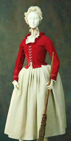 An example of the style of clothing worn by the working class around the time of the French Revolution. With the outbreak of the revolution in 1789, people began to use fashion as a means of expressing one's ideology. The revolutionaries regarded luxurious and extravagant silk as the symbol of aristocracy, the enemies of the revolution, replacing it with linen and cotton worn by the lower classes, in an attempt to distance themselves from the previous era. ©The Kyoto Costume Institute