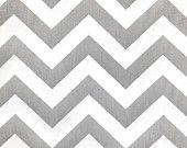 "1 Yard ""ZigZag"" in Ash Grey Slub, Chevron Print, Home Dec Fabric. $10.00, via Etsy."