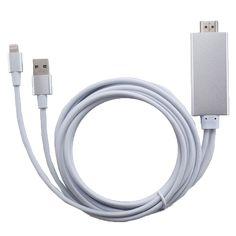 Cabo de aluminio USB HDMI para iPhone e iPad Apple