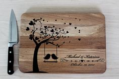 Personalized cutting board Wedding cutting от EngravedWoodenGifts