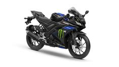 Yamaha Monster Energy Edition Generates Maximum Power HP @ rpm and it's Maximum Torque is 15 NM @ 8500 rpm. Transmission duties are taken care of by a 6 Speed Gearbox. Yamaha claims that the bike offers a mileage of 40 Kmpl (approx). R15 Yamaha, Yamaha Bikes, Yamaha Motor, Kawasaki Motorcycles, Blue Campaign, Brand Campaign, Cute Minions, Bike Photoshoot, Supersport