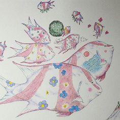【tear_monster】さんのInstagramをピンしています。 《Moving forest - Emperor red snapper うごく森 - センネンダイ  Tearmonster 涙のモンスター  おなじようでちがう ちがうようでおなじ  #movingforest  #emperorredsnapper #センネンダイ #flower #花 #forest #森 #tree #木 #tear  #butterfly  #moon #月 #sun #太陽 #sea #海 #wind #風  #rain #雨 #cloud #イラストレーション #イラスト #illustration #drawing  #art #artinspires #artislife #Contemporaryart》