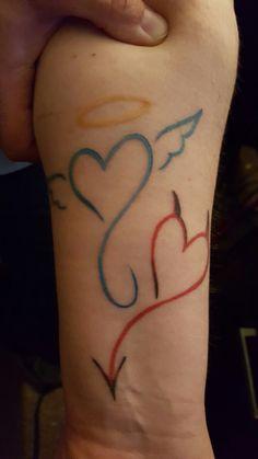 devil / angel tattoo
