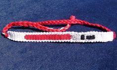 Lightsaber Friendship Bracelet by NerdsinKnots on Etsy