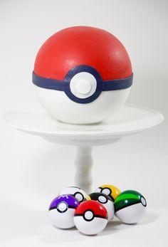 Pokemon - Pokeball - Torte Pokemon, Food, Wedding Pie Table, Baking, Meal, Essen