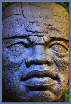 Olmec Statue . Mexico