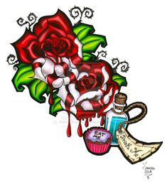 Alice in Wonderland - Eat Me, Drink Me - Painting the Roses Red