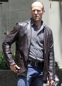 Fast And Furious 7 Jason Statham Coat Style Leather Jackets Men's Leather Jacket Jason Statham, Men's Leather Jacket, Leather Men, Brown Leather, Leather Coats, Distressed Leather, Real Leather, Hard Rock, Leather Jackets For Sale