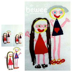 Granny's love <3 Ma grandmère et moi <3 #bewee #embroidery #kidsart #kidsdrawings #family