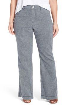 NYDJ 'Claire' Stretch Wide Leg Trousers (Plus Size)