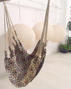 Hamaca silla colgante de tela lisa de diseño minimalista