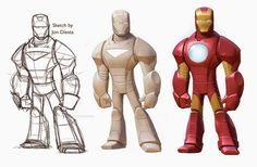 With our earliest work on the Infinity 2.0 stuff, we were trying to keep the Marvel characters more in the style of the rest of the Infinity characters. Of course, Marvel would have none of that, but I personally still prefer some things about these versions of the characters. Jon Diesta deserves mo