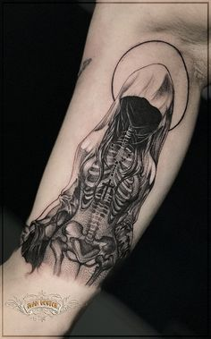 Tattoo Ivan Chesnokov - tattoo's photo In the style Blackwork, Terrib Evil Tattoos, Spooky Tattoos, Badass Tattoos, Skull Tattoos, Black Tattoos, Body Art Tattoos, Tatoos, Tattoo Art, Gotik Tattoo