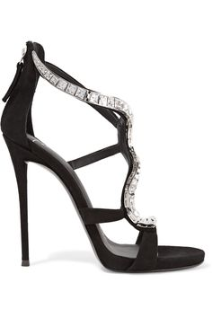 Shop on-sale Giuseppe Zanotti Crystal-embellished suede sandals. Browse other discount designer Sandals & more on The Most Fashionable Fashion Outlet, THE OUTNET.COM