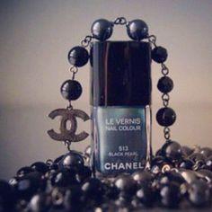 Chanel black pearl polish. My fav!