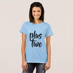 PLUS TWO - blue T-Shirt - chic design idea diy elegant beautiful stylish modern exclusive trendy