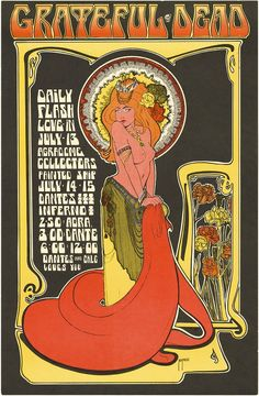 July 14-15, 1967: Grateful Dead, Daily Flash, Love-In. Agrodome, Vancouver, B.C. Poster art by Bob Masse.