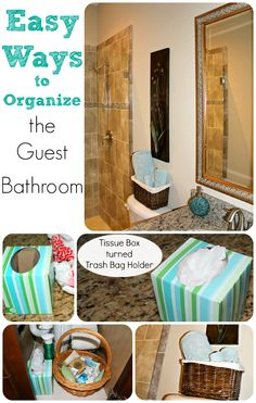 Easy Ways to Organize the Guest Bathroom in 5 Minutes flat! Plus more great DIYs to #GetOrganized!