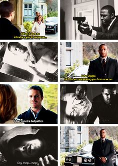 Moira, Oliver & Diggle #Arrow