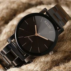 Black Stainless Steel Men's and Women's Quartz Simple Cheap Watches Mens Watches Top Brand KEVIN Luxury Black Stainless Steel Clock Women's Casual Sport Dress Quartz Wrist Watch Relogio Masculino Cheap Watches, Cool Watches, Watches For Men, Men's Watches, Watches Online, Fashion Watches, Popular Watches, Stylish Watches For Girls, Unusual Watches